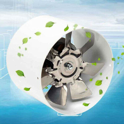 ^4 Inline Ducting Fan Booster Air Cooling Filter Vent Exhaust Blower Fan 2800R