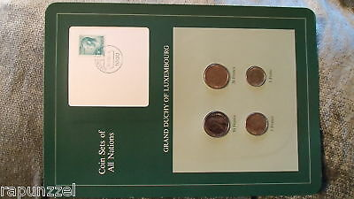 Coin Sets of All Nations Luxembourg w/Card 1980-1983 UNC 20 Francs 1982