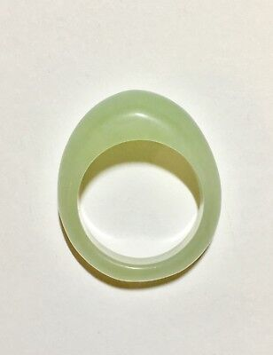 Chinese Antique Jade Ring - NATURAL Celadon Jade Ring - Untreated