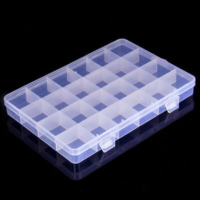 10/15/24 Compartment Organiser Storage Plastic Box Loom Bands Craft Nail Art
