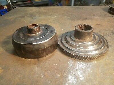 2-  Vintage industrial steampunk  gears sprockets - lamp base project parts
