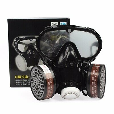 Respirator Gas Mask Safety Chemical Anti-Dust Filter Military Goggle Filter Box