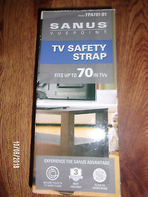 "Sanus TV Safety Strap-Universal Fits up to 70"" in.TV's-NIP"