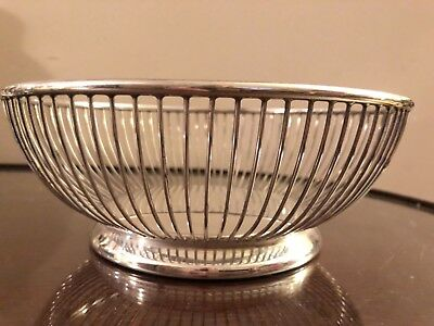 Vintage silver plate bread basket ITALY Beautiful