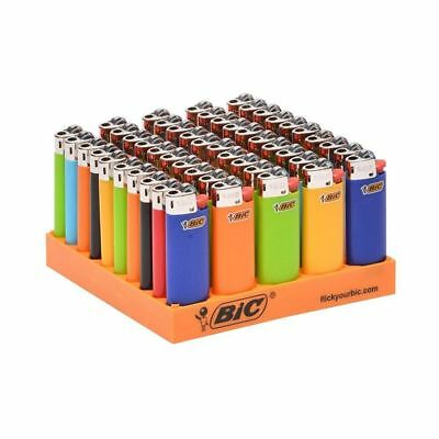 BIC Small Mini Solid - 2 Lighters - Long Last - Assorted Pink Blue Green Black