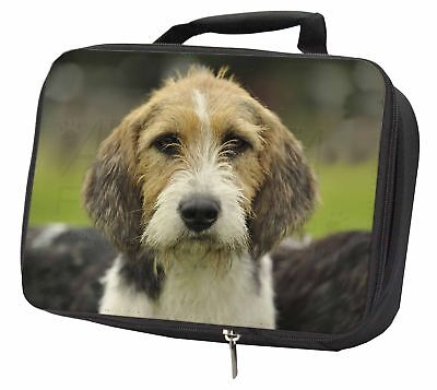 Welsh Fox Terrier Dog Black Insulated School Lunch Box Bag, AD-FT4LBB