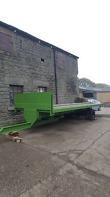 Farm Trailer Flat Bale 22ft Single Axle