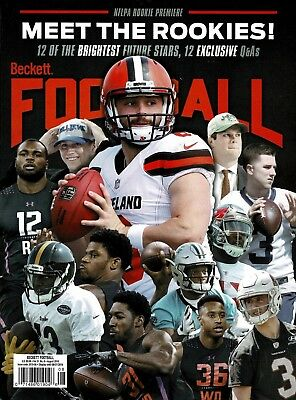 New Beckett Football Price Guide Magazine August 2018 Baker Mayfield No Label