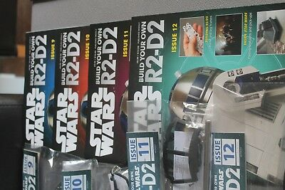 Deagostini Build Your Own Star Wars R2-D2 Issue 9,10,11,12