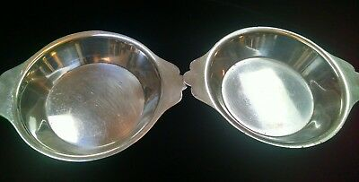 """2 SS United States Lines International Silver Co 5"""" Bowls"""