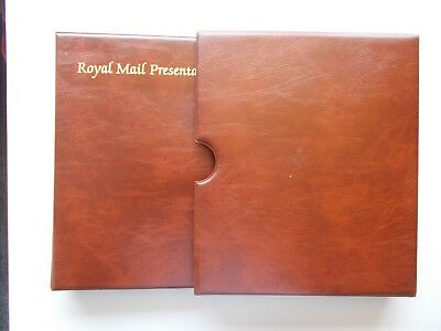 Royal Mail Presentation Pack album with slipcase & 15 leaves. Good condition.