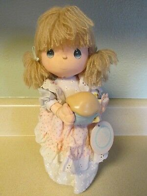 Precious Moments Musical Ronnie Doll Plays Whistle While You Work Rotating!