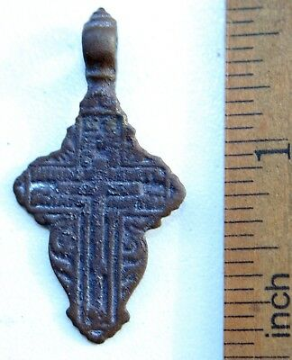 Ancient Old Believer Bronze Leaf Cross Female (OCR02)