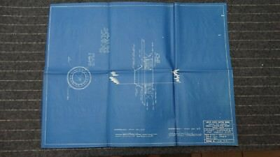 """(CR33) Original 1918 Blueprint Drawing 20"""" x 27"""" - Mast Wedges for Wooden Ships"""