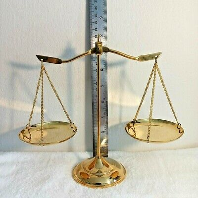 Brass Balance Scales Of Justice Law Vintage  Decoration Scale  Weigh  Gift