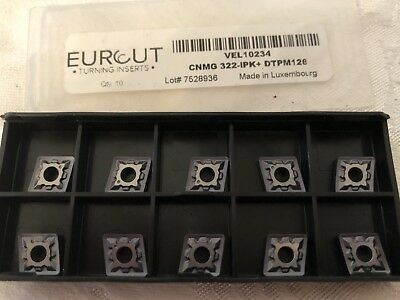 10 Pcs Eurcut Cnmg 322-Ipk Dtpm 126 Carbide Inserts Made In Luxembourg