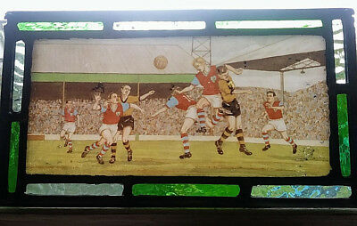 Stained Glass Burnley Wolves FC Very Rare Football Panel VintageTraditional lead