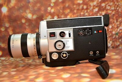 【WORKING】CANON 814 ELECTRONIC ZOOM Super 8 MOVIE CAMERA 18-24-36 FPS FILM TESTED