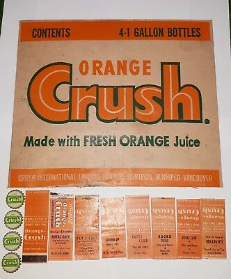 Vintage Orange and Lime Crush Soda Collectables Circa 1950s to 1960s
