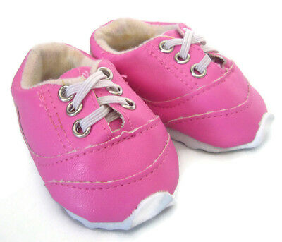 """Bright Pink Sneakers Shoes for 18"""" American Girl Doll Clothes"""