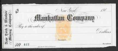 MANHATTAN COMPANY BANK OF NEW YORK UNUSED BANK CHECK (my363)