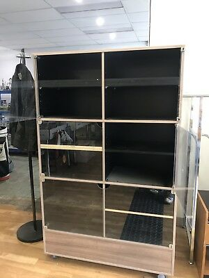 Double Sided Shop Display Record Magazine Book Cabinet