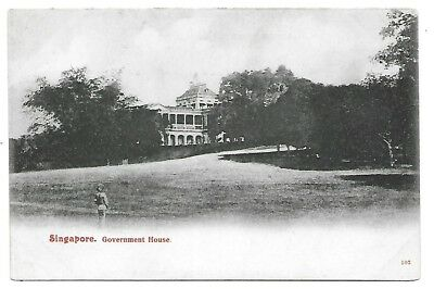 SINGAPORE Postcard Government House Early