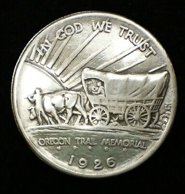 1926 Oregon Trail Memorial Silver Half Dollar Button & Pin