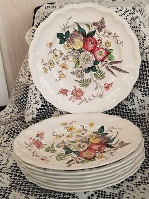 "Brown Mark Copeland Spode ~ Gainsborough S245 Dinner Plates - 10~3/4"" ."
