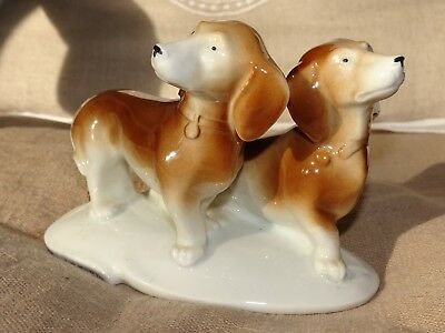 Chien teckel porcelaine german Porcelain Dachshund Dog Figurine Carl Scheidig