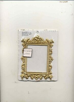 Picture Frame - Large Rectangle Gold UMLP15  dollhouse miniatures 1/12 scale