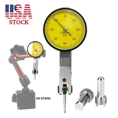 """20"""" Dial Test Indicator 0-0.8mm Level Gauge Scale Dovetail Rails 0.01mm Gage US"""
