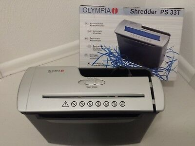 Olympia PS 33T - Der ideale Shredder