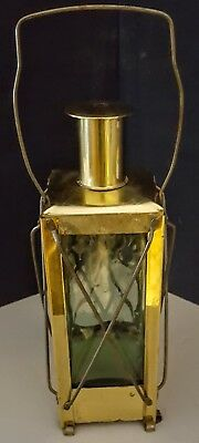 """Working Swedish 1940S Brass & Blown Glass Music Box Decanter """"how Dry I Am"""""""