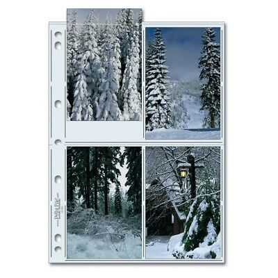 """Print File Archival 46-8G Photo Pages (25 pack) (4 x 25 pack) Holds eight 4""""x6"""""""