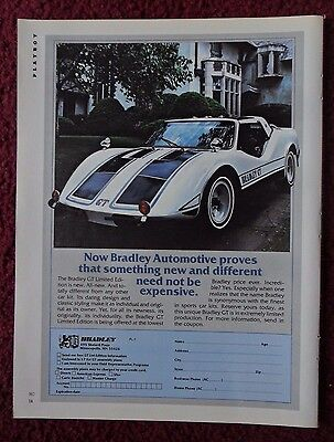 1979 Print Ad BRADLEY GT Limited Edition Car ~ New and Different Not Expensive