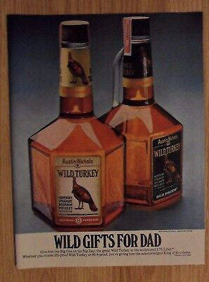 1981 Print Ad Wild Turkey Bourbon Whiskey ~ Give Dad the Big One for His Big b573e31f01f4