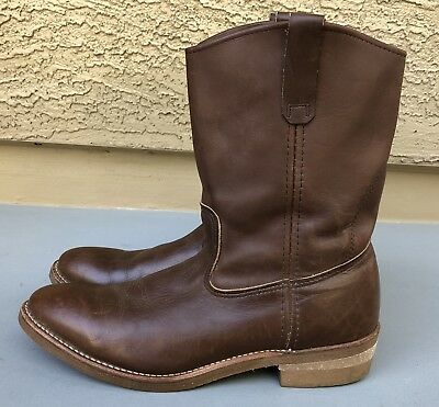 9ad984ff9d0 VTG RED WING Pecos Nailseat Pull-On Cowboy Engineer Boots 1155 Men's Sz 12  AA 2A