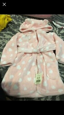 Baby girl dressing gown size 9-12 months