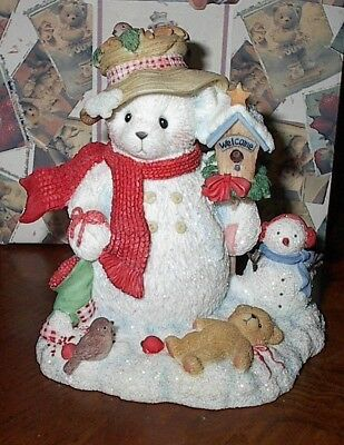 Cherished Teddies Figure MERRY In The Meadow We Can Build A Snowman 2000 Enesco