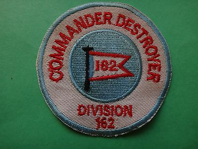US Navy Patch COMMANDER DESTROYER DIVISION 162