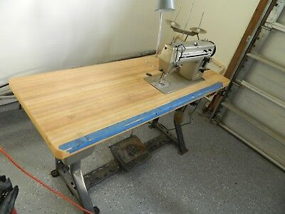 COMMERCIAL UPHOLSTRY SEWING MACHINE, SINGER 20u33 WITH EXTRAS, LOCAL PICKUP