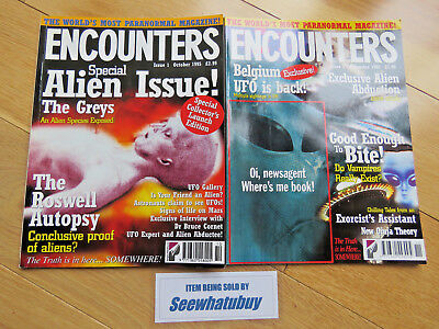 Encounters (UFO Magazine) Issues 1 & 2 (1995) No cover mounted book