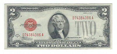 1928F $2 United States Red Seal Note, Fr1507, Very Fine