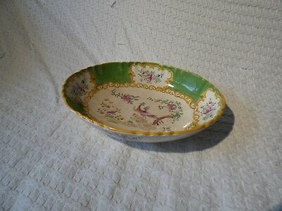 Antique Mintons Cockatrice Pattern Oval Serving Dish Bowl Tureen