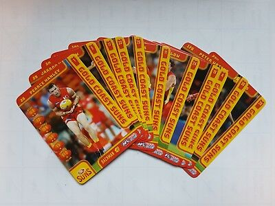 2018 afl teamcoach Gold Coast Suns Common Set 11 cards