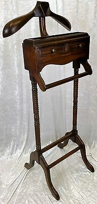 Beautiful New Solid Mahogany Gentleman's Valet Stand. Free Delivery