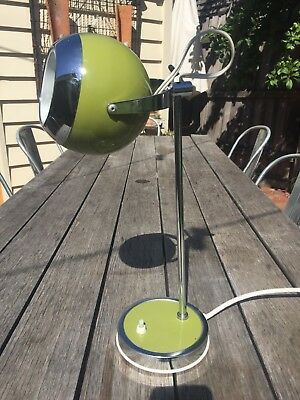 RETRO MID CENTURY JET AGE EYEBALL  LAMP  DESK LIGHT ADJUSTABLE + WORKING  1960s