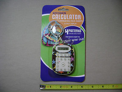 Keychain Calculator with Changeable Face Inserts and 8 Digit Display (NEW)