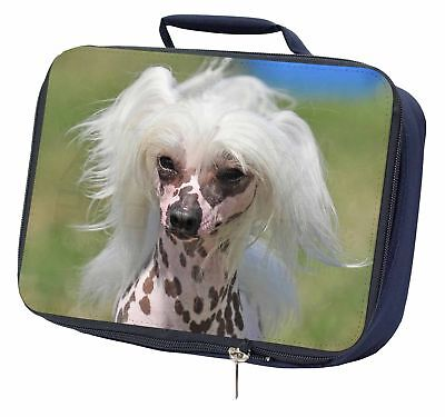 Chinese Crested Dog Navy Insulated School Lunch Box Bag, AD-CHC4LBN